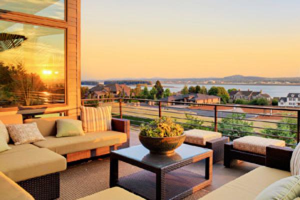 vue de villas paysagère panoramique